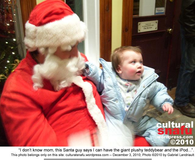 Victor with Santa