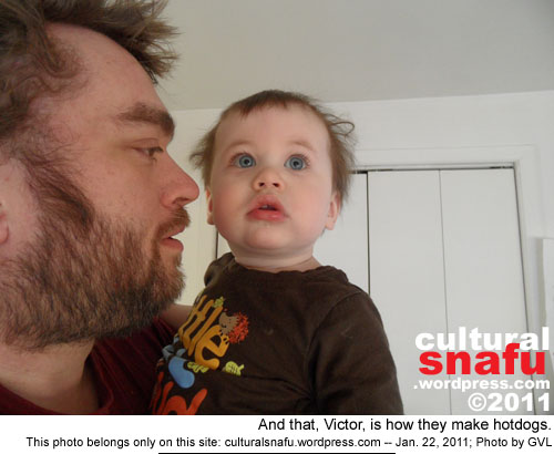 Victor with Daddy