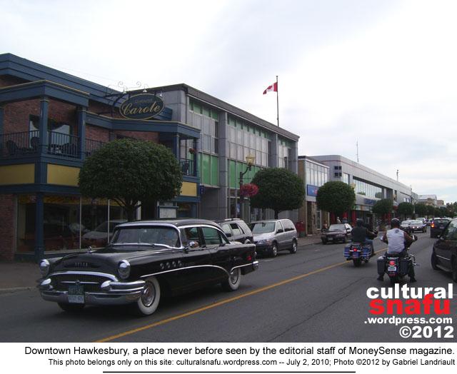 downtown Hawkesbury, Ontario
